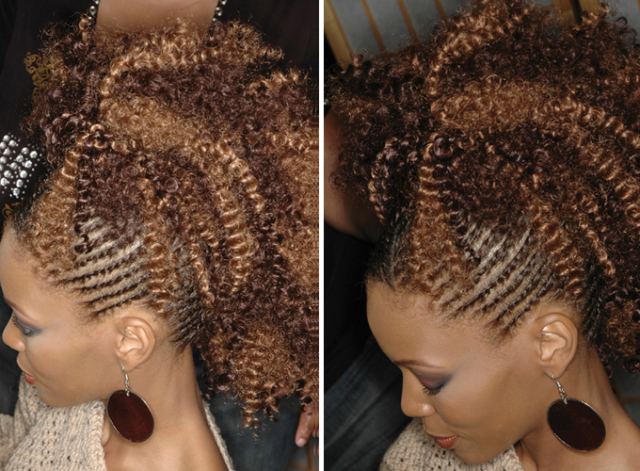 Get The Look: Kinky Curly Faux Hawk