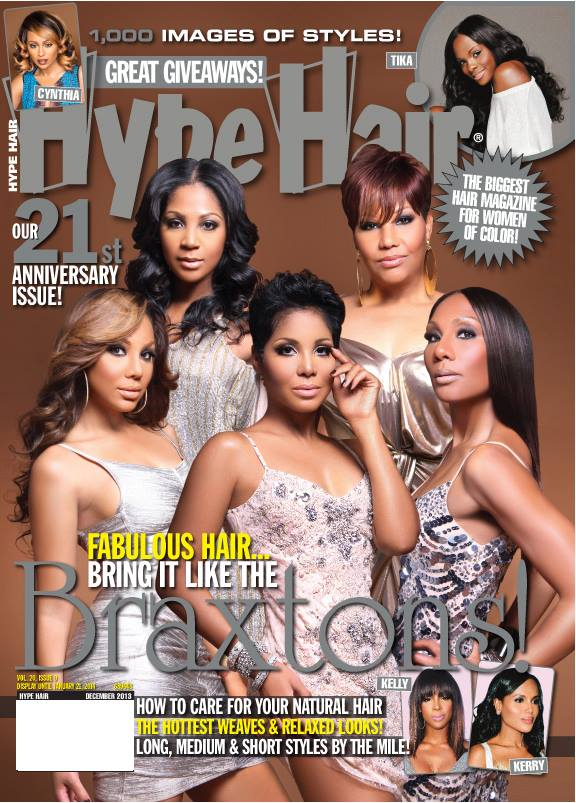 the braxton sisters cover hype hair december 2013 issue
