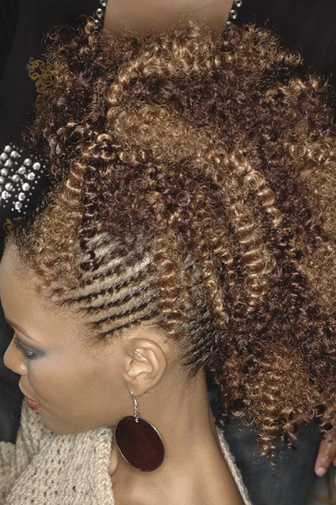 Cornrow Hairstyle - Step 2