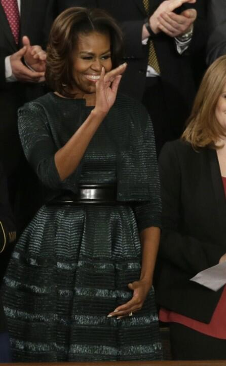 Alaia Dress And Jacket Mrs. Obama Wore President Obama s annual State