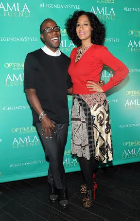 Tracee Ellis Ross and Johnny Wright for AMLA Legend