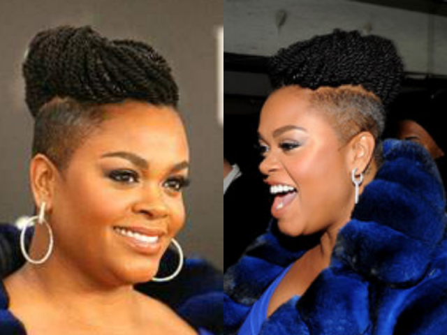 Jill Scott Shaved Sides with Braids