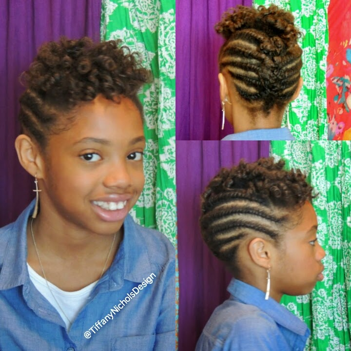 Natural Hairstyle for Kids (Flat-Twist and Roller Set Hairstyle)