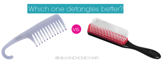 Wide Tooth Comb vs Denman Brush