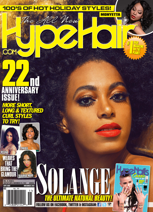 Solange Knowles | Hype Hair November 2014 Cover