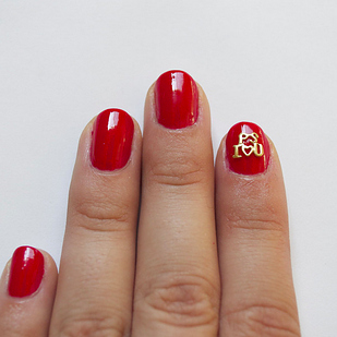 hype hair valentine's day nails