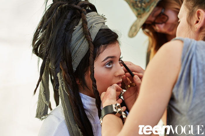 Kylie Jenner Dons Faux Locs For 'Teen Vogue' Shoot