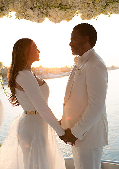White Hot Inside Tina Knowles Magical Wedding Photos