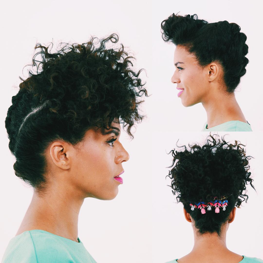 WATCH Create A Weeks Worth Of Natural Hairstyles At Home - Diy natural hairstyle