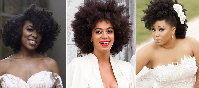 10 Hairstyles For Natural Hair Brides