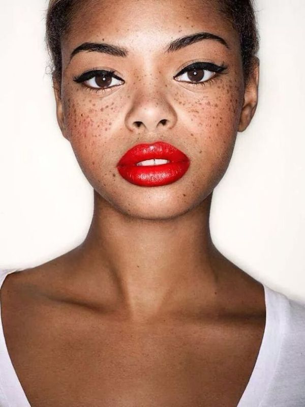 Freckles X Red Lip