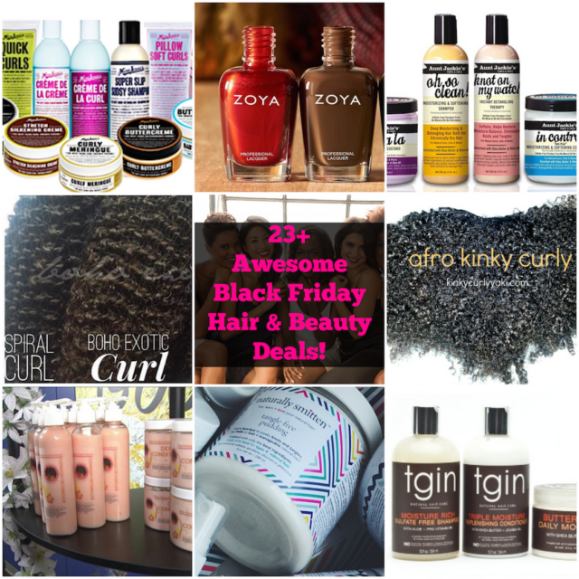 black friday hair & beauty deals