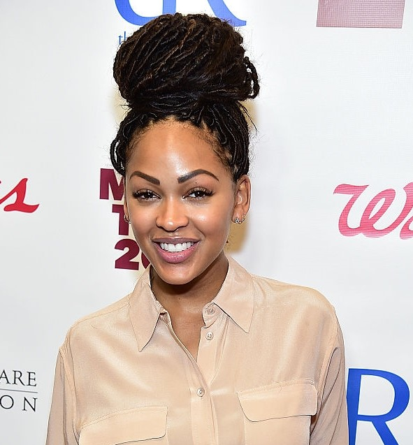 Mane Move Meagan Good Brings Back Faux Locs