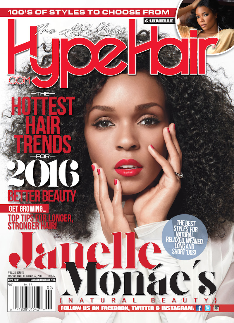 Janelle Monáe Covers 'Hype Hair' January/February Issue