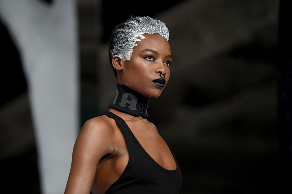 Models Rock Frozen Hair At Rihanna S Fenty X Puma Showcase