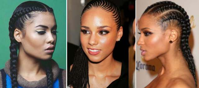 celebs with cornrows