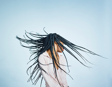 box braids hair flip