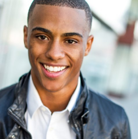 Model keith powers who will play the rapping ronnie devoe shows how