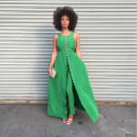 Solange embracing her natural fro.