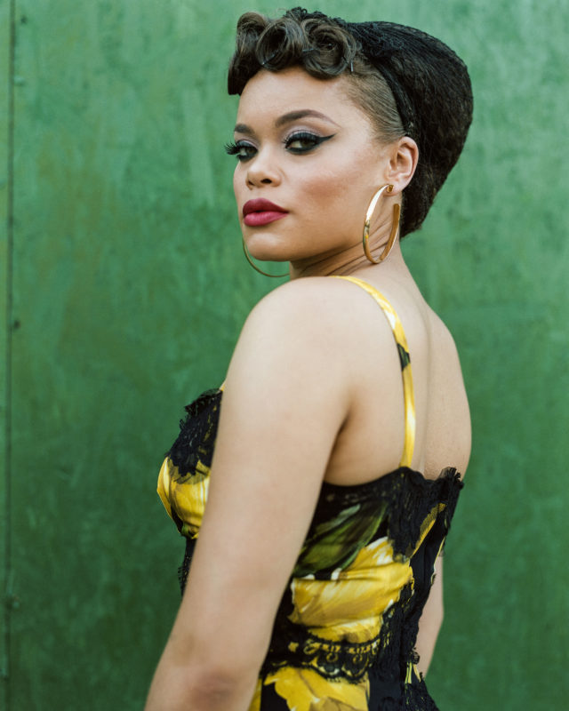 Close Up Andra Day Serves Vintage Glam For The Cut