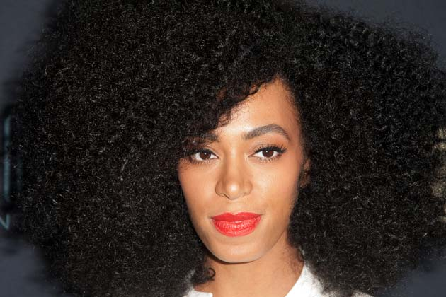 Solange natural hair weave