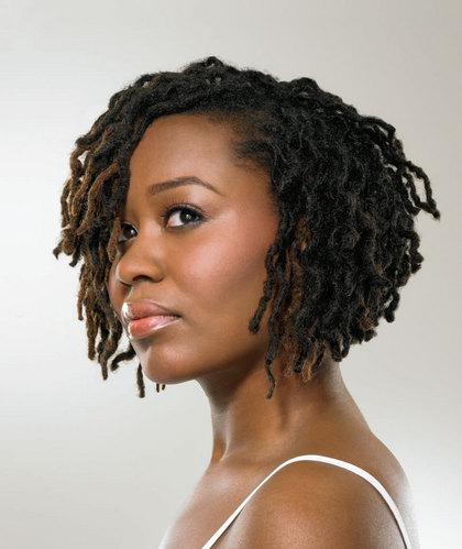 Short wavy dreadlocks