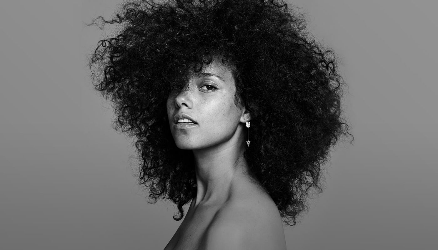 Alicia Keys Shows Off Gorgeous Curly Afro In 'Here' Album Artwork Alicia Keys
