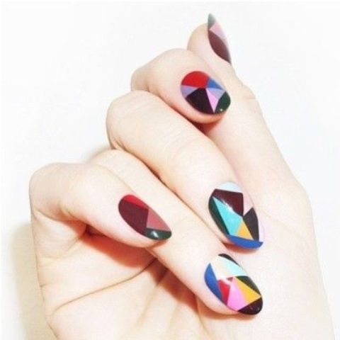 19 Geometric Nail Art Designs That Are Anything But Square