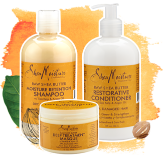 SheaMoisture Shampoo, conditioner, masque
