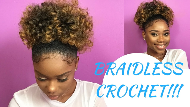 Heres How To Create A Puff Ponytail Using The Braidless Crochet Method