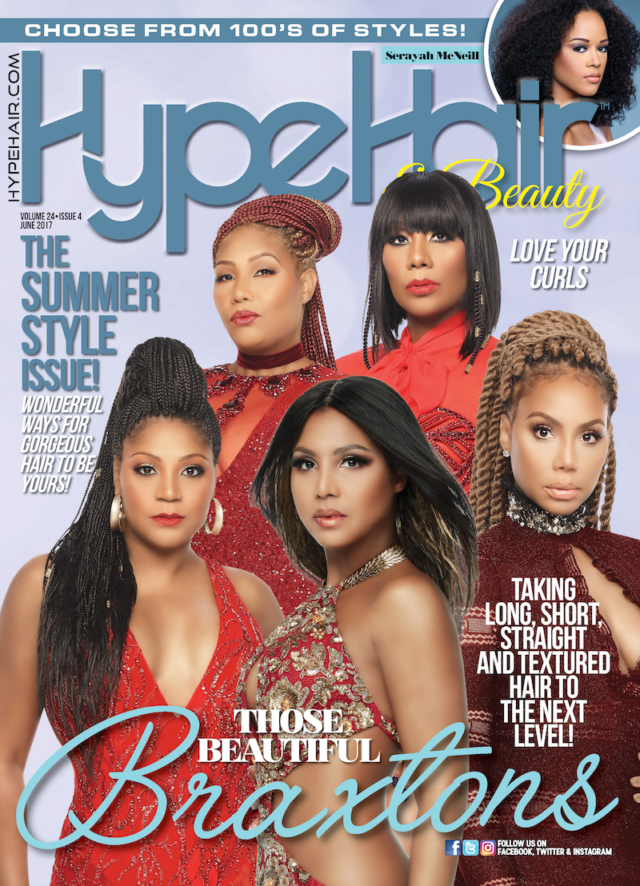 The Braxtons Cover Hype Hair June 2017