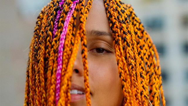 You Have To See Alicia Keys Bold New Multi Colored Look