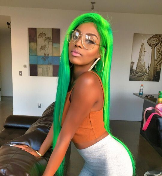 Color Play 15 Gorgeous Green Hairstyles To Slay