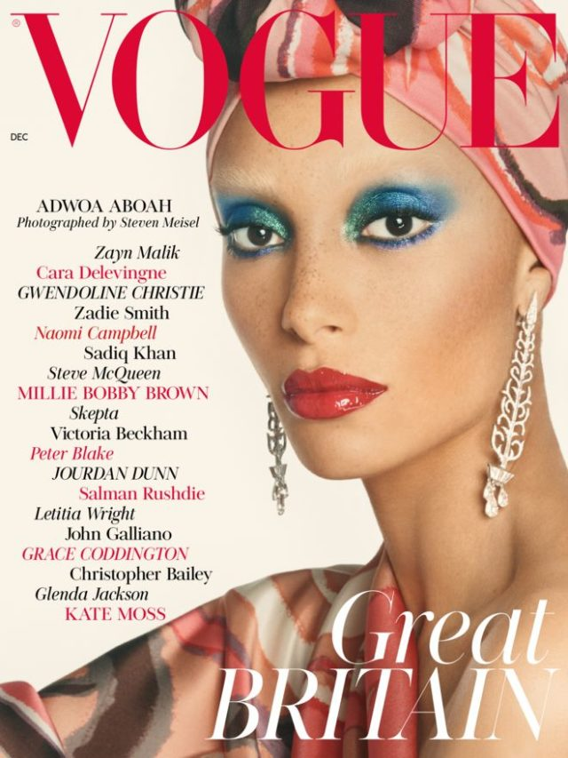 Adwoa Aboah X Vogue UK December 2017