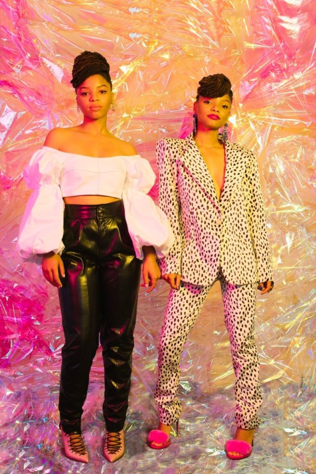 closeup chloe x halle serve sister goals in nylon