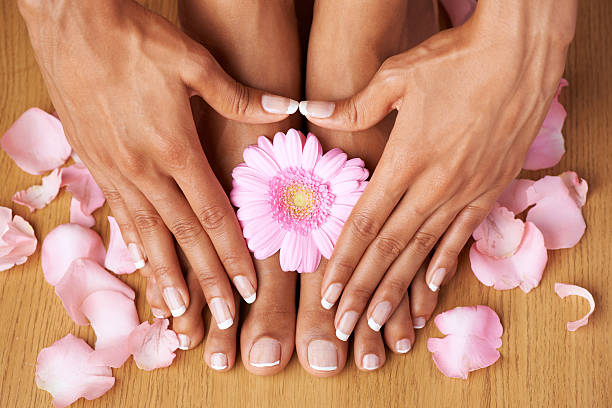 self manicure and pedicure