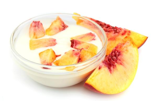 Peaches and yogurt