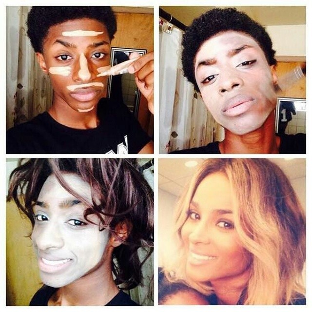 Black Girl Makeup Transformation Meme