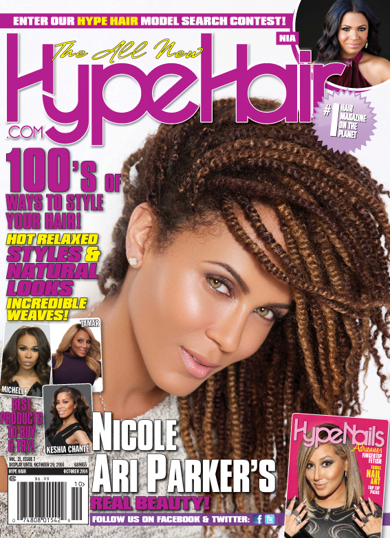 Nicole Ari Parker Covers Hype Hair October 2014 Issue!