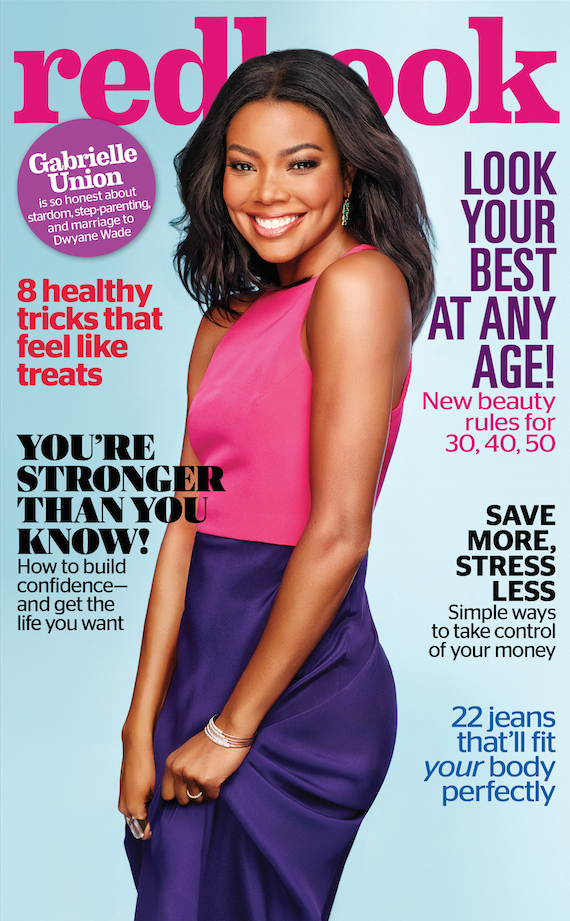 Gabrielle Union Is Radiant On Redbook October 2015 Cover