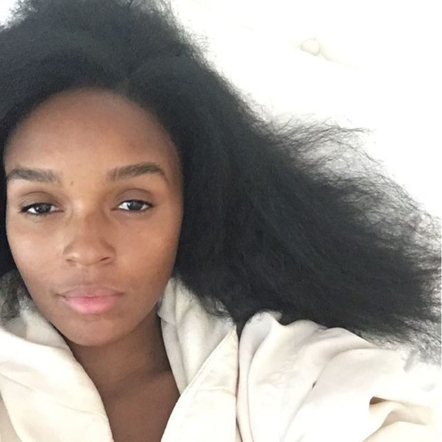 Janelle Monae Lets Down Her Natural Hair