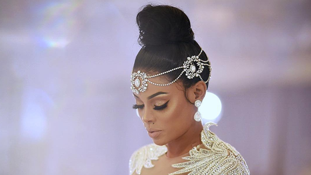 Keyshia Ka Oir Stuns In Diamond Covered Wedding Dress