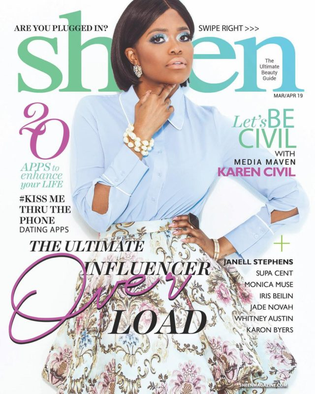 Karen Civil X Sheen Magazine