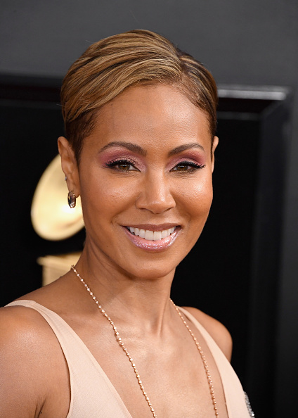 Jada Pinkett Smith | Hairstyle with a buzzed and bleached ...