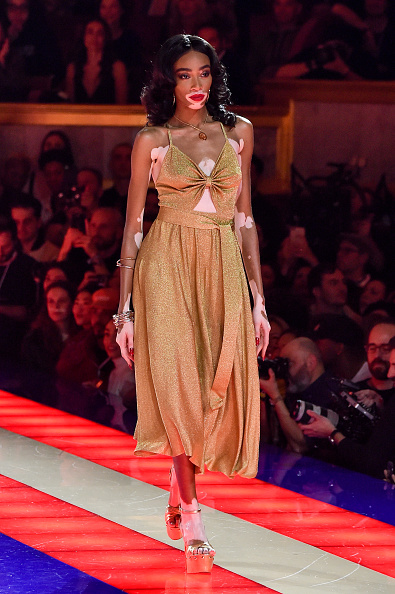 PARIS, FRANCE - MARCH 02: A model walks the runway during the Tommy Hilfiger TOMMYNOW Spring 2019 : TommyXZendaya Premieres at Theatre des Champs-Elysees on March 02, 2019 in Paris, France